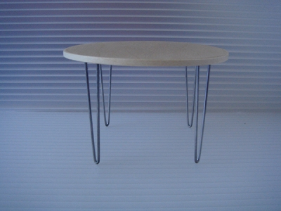 "4"" V-LEG DINING WOOD TABLE"
