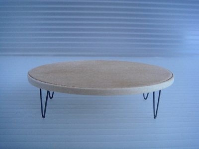 1:18 V-LEG OVAL WOOD COFFEE TABLE