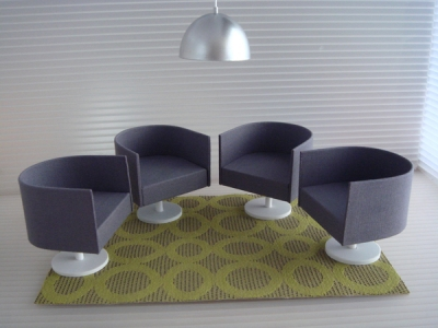 SET OF 4 BARREL CHAIRS