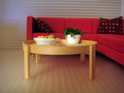 WOOD TRAY COFFEE/SIDE TABLE