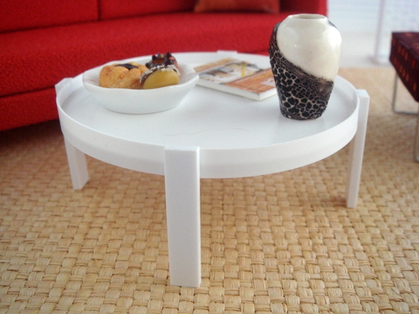 White Tray Coffee Side Table